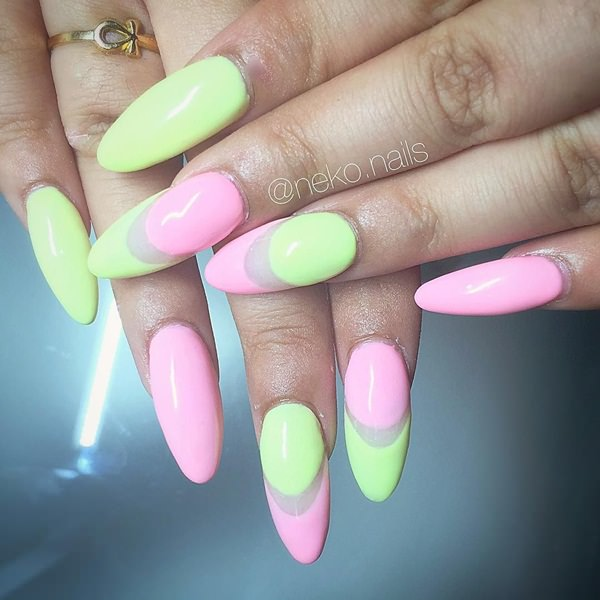 41-Acrylic-Nails - 115 Acrylic Nail Designs To Fascinate Your Admirers