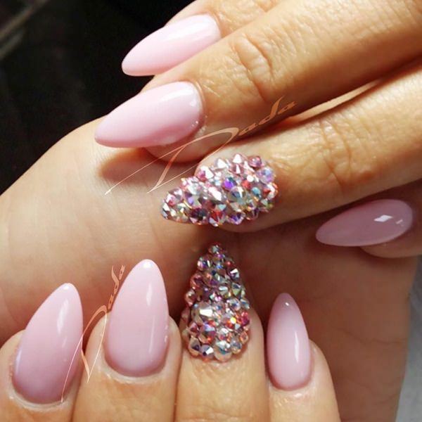 46-Acrylic-Nails - 115 Acrylic Nail Designs To Fascinate Your Admirers