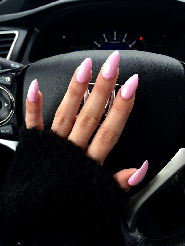 60 Acrylic Nails A Lovely Light Pink