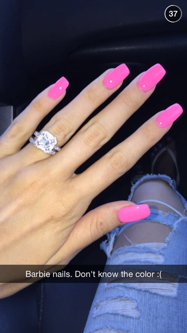 67 Innocently Sexy Pink Nail Designs Photos