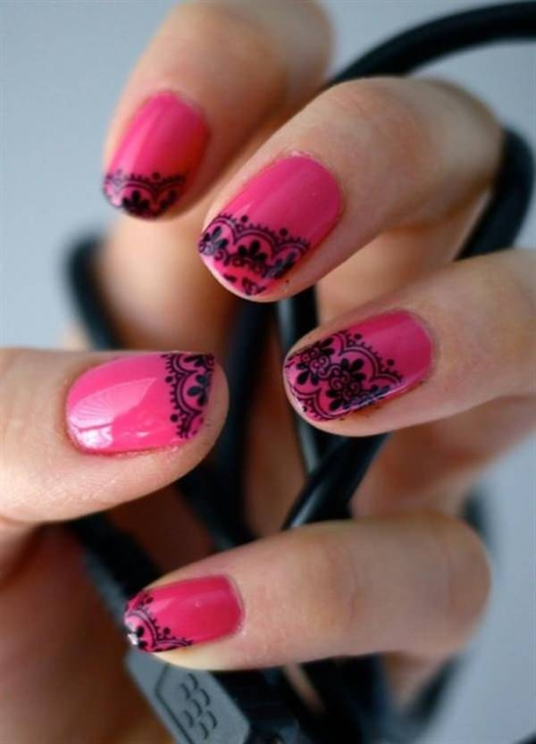67 Innocently y Pink Nail Designs (Photos) on christmas home nail designs, easy home make up, zebra nail designs, cool nail designs, crazy nail designs, simple home nail designs, easy fingernail designs, basic nail designs, red nail designs,