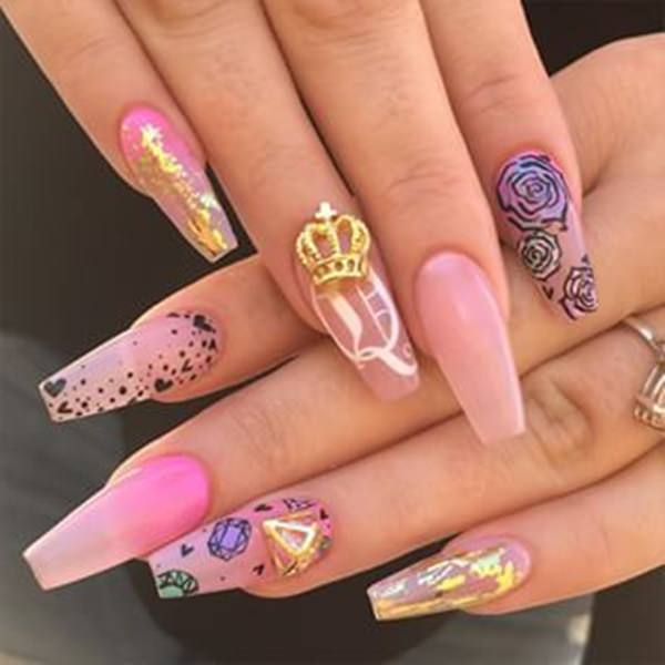 Hot Nail Designs: 67 Innocently Sexy Pink Nail Designs (Photos