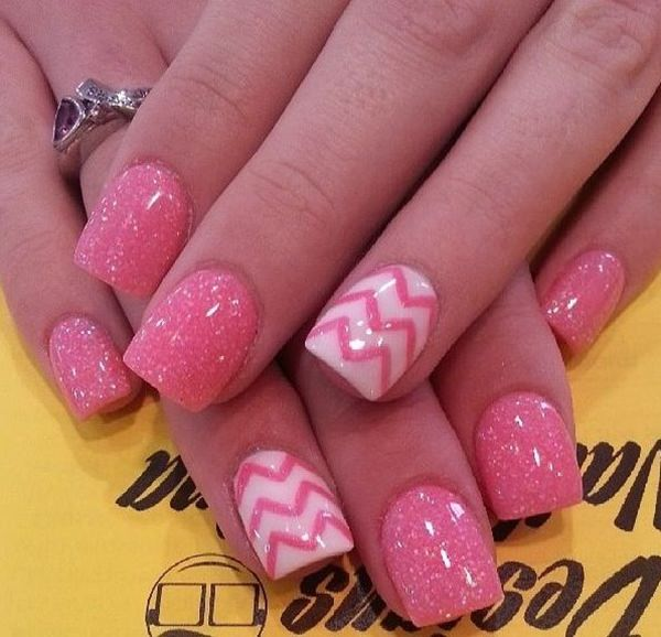 67020216-pink-nail-designs - 67 Innocently Sexy Pink Nail Designs (Photos)