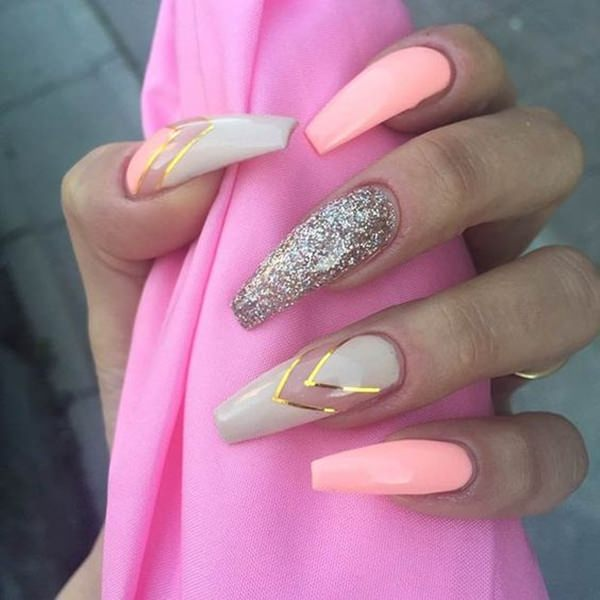 70020216-pink-nail-designs - 67 Innocently Sexy Pink Nail Designs (Photos)