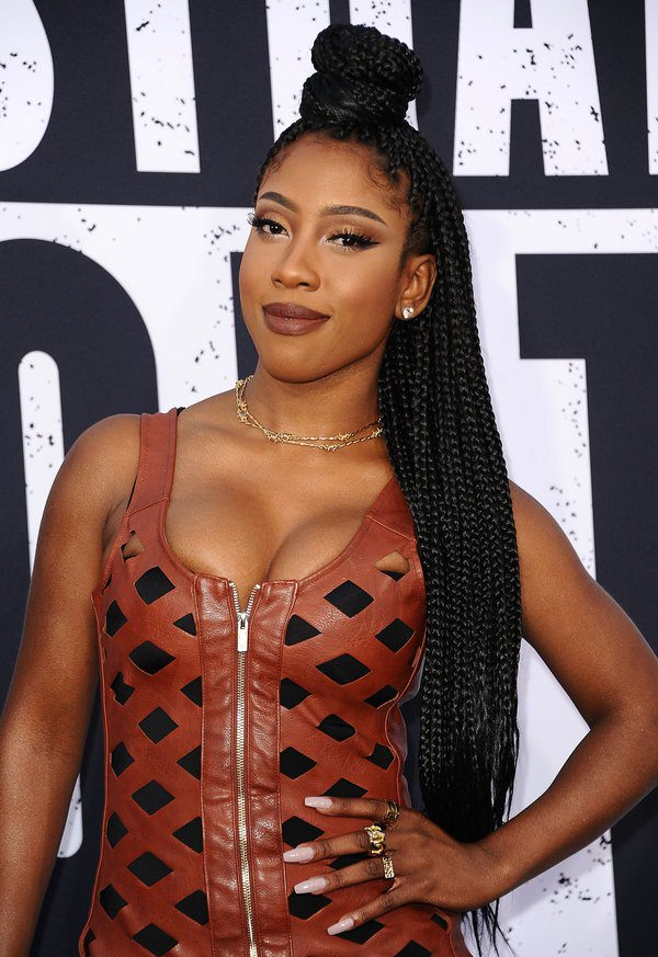"LOS ANGELES, CA - AUGUST 10: Sevyn Streeter attends the premiere of ""Straight Outta Compton"" at Microsoft Theater on August 10, 2015 in Los Angeles, California. (Photo by Jason LaVeris/FilmMagic)"