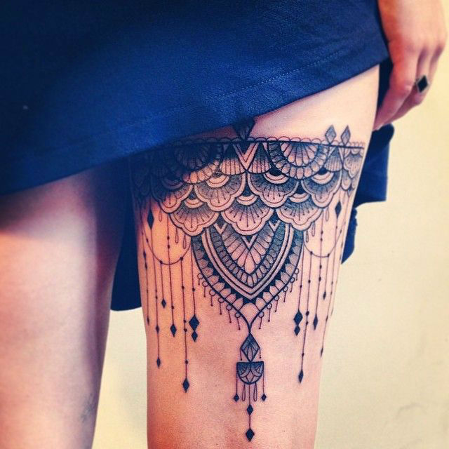 lace tattoos 16