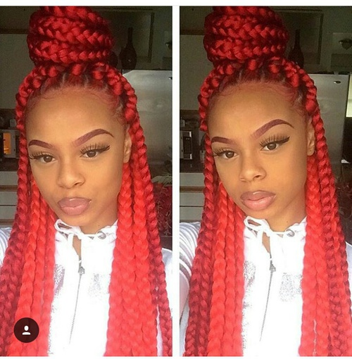45 Photos of Rockin\u0027 Red Box Braids