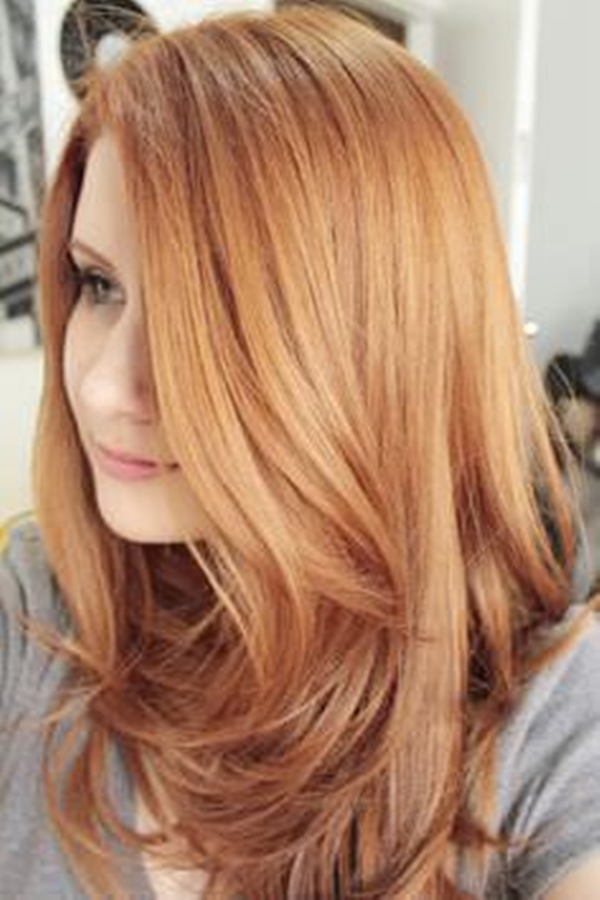 Natural Strawberry Blonde Hair With Highlights
