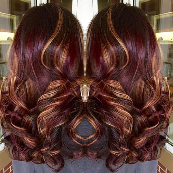 35 Cool Hair Color Ideas To Try In 2016: 60 Gorgeous Burgundy Hairstyles That You Love