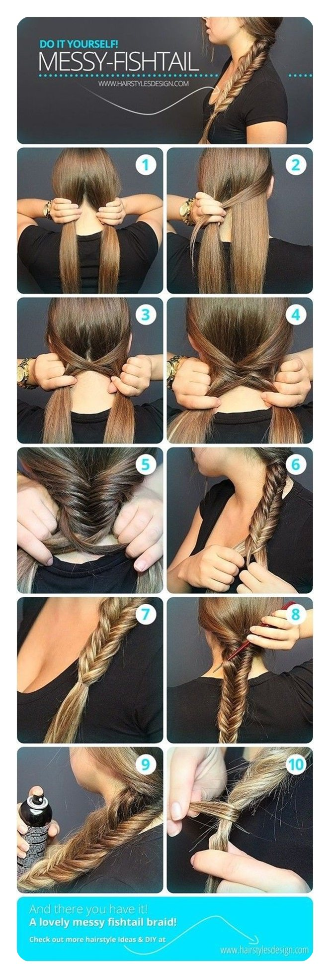 How To Do A Fishtail Plait Step By Step