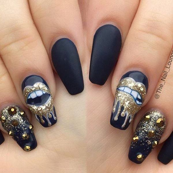 ... black-nail-designs-12041642 - 50 Amazing Black Nail Designs You Are Sure To Love