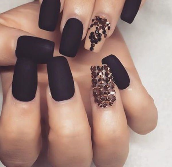 ... black-nail-designs-12041648 - 50 Amazing Black Nail Designs You Are Sure To Love
