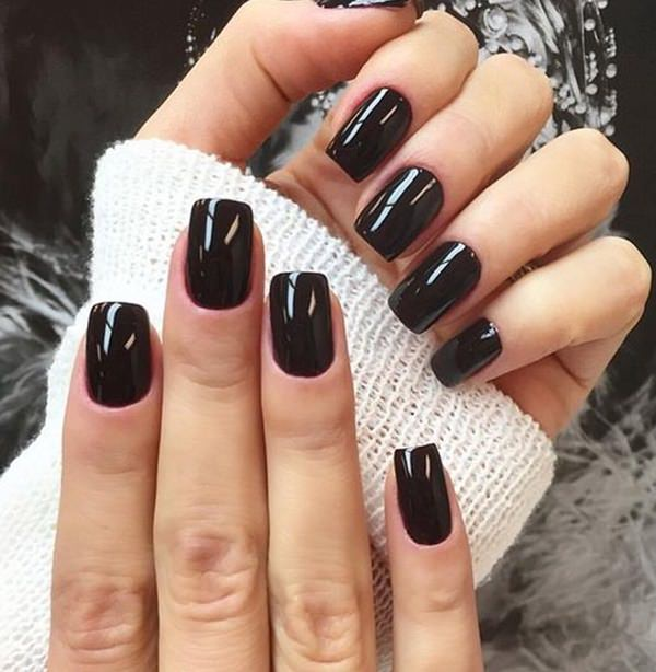 ... black-nail-designs-1204167 - 50 Amazing Black Nail Designs You Are Sure To Love