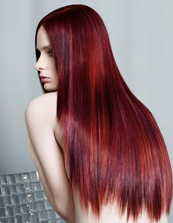 Of The Most Striking Dark Red Hair Color Ideas