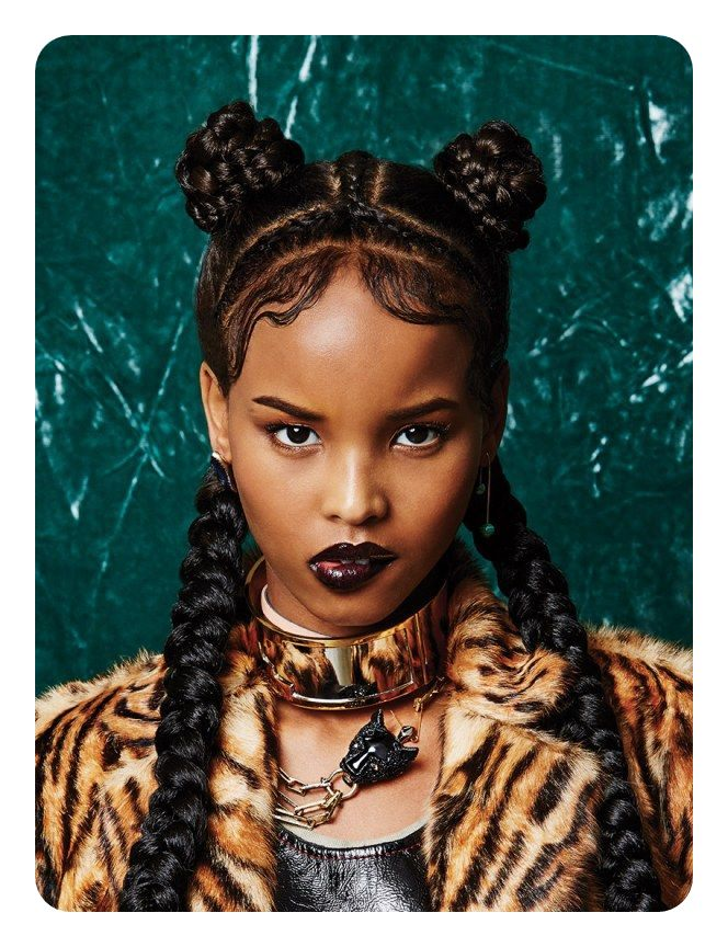 74 cool bantu knots hairstyles with how to tutorials a gorgeous style that combines braids and knots together we love how the middle of the head has braids that are sectioning off its a gorgeous style that thecheapjerseys Image collections