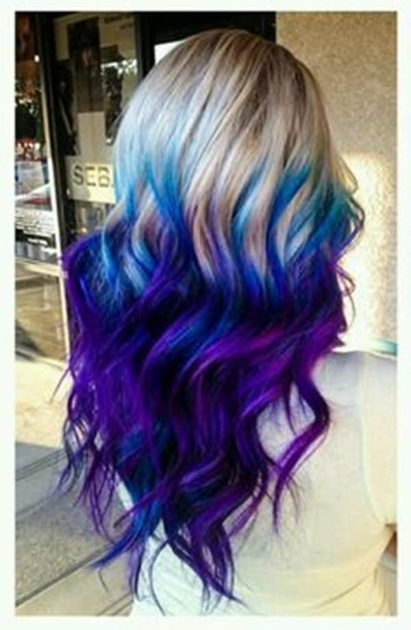 Blonde Hair Is A Great Shade To Add Bright Highlights Because It Makes Your Whole Look Pop I Love How Deep The Purple And Blue Go S Incredible