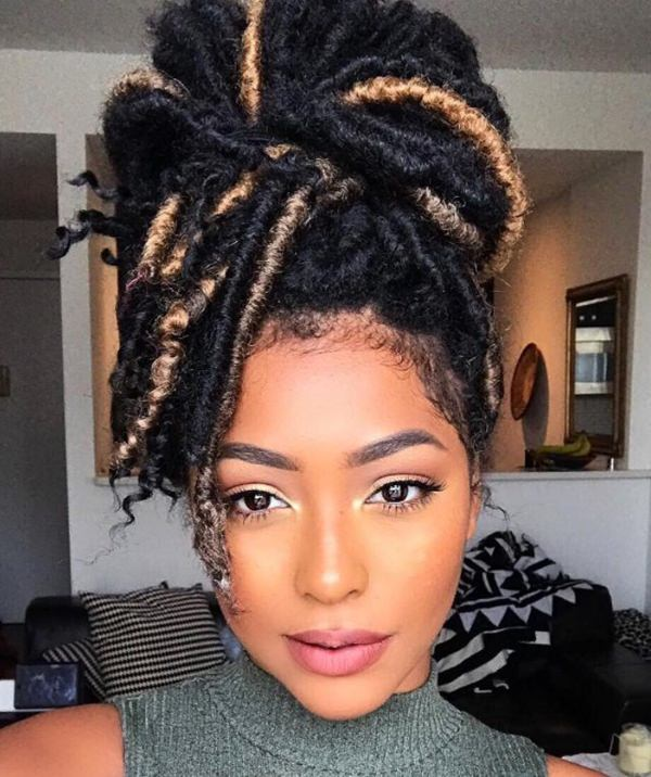 Crochet Faux Locs Updo Hairstyles: 67 Funky Faux Locs Photos To Inspire You