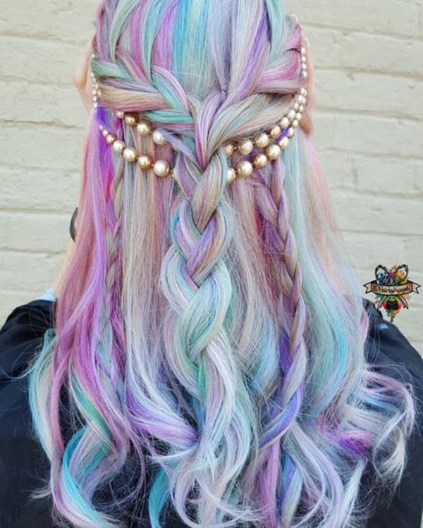 mermaid style hair 70 breathtaking mermaid hairstyles that are vibrant 2680 | 25060417 mermaid hairstyle