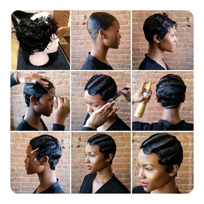 Doing Finger Waves As You Can See It Be Hard To Do A Style Like This On Your Own Unless Learn How With Straight Iron