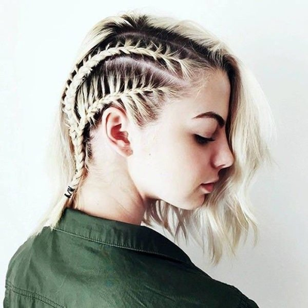 The Contrast Between Colors Is Truly Remarkable Braids Are And It Almost Gives Same Type Of Look As A Shaved Side