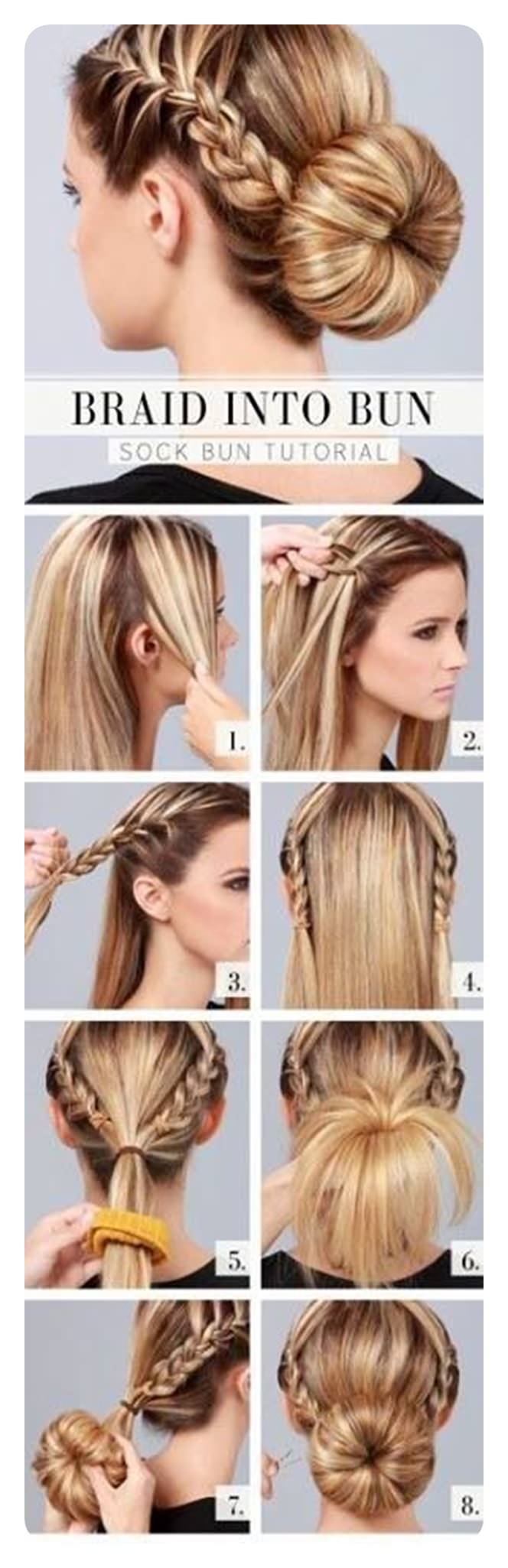 60 Awesome Sock Bun Hairstyles With Tutorial
