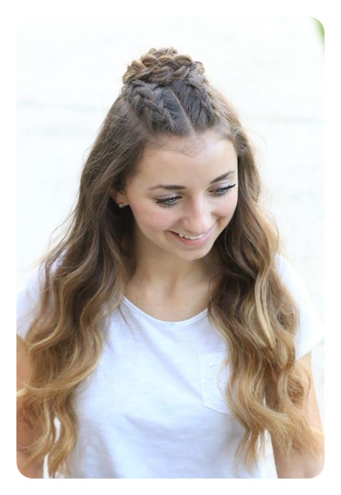 cute hairstyles easy long bun braid hairstyle braids bows simple ponytail extra double