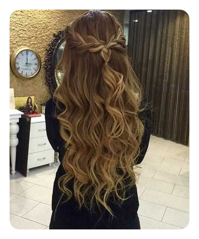 Attractive If You Have Long Hair And Youu0027re Looking For A New Style Then Try This One  With The Beautiful Braid.