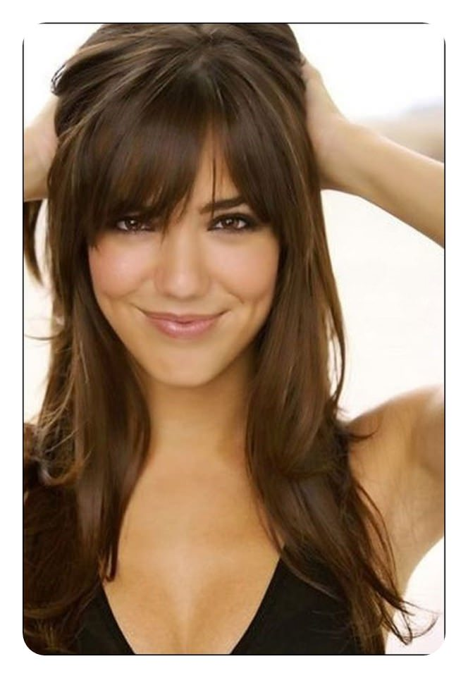 Another great style that is long with some bangs.