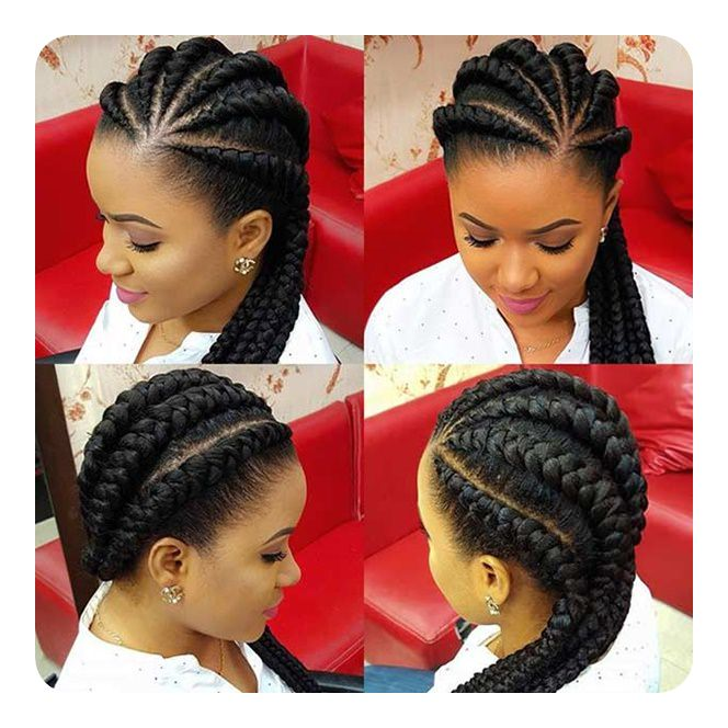 87 Gorgeous And Intricate Ghana Braids That You Will Love