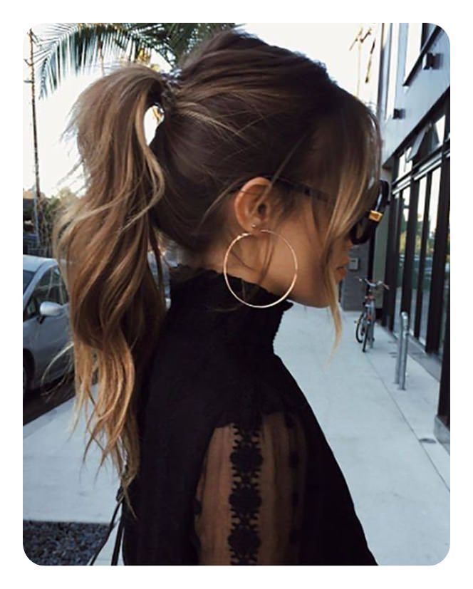 97 Amazing Ponytail With Bangs Hairstyles