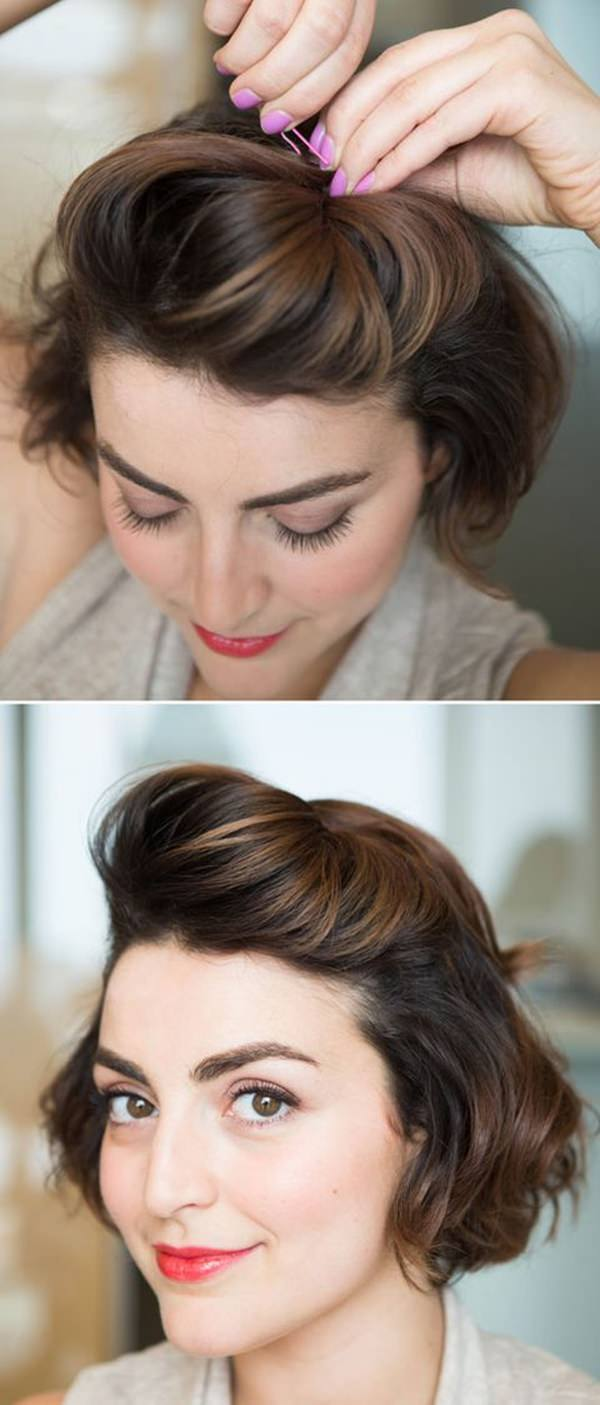 12 Sexy and Sassy Updos For Short Hair