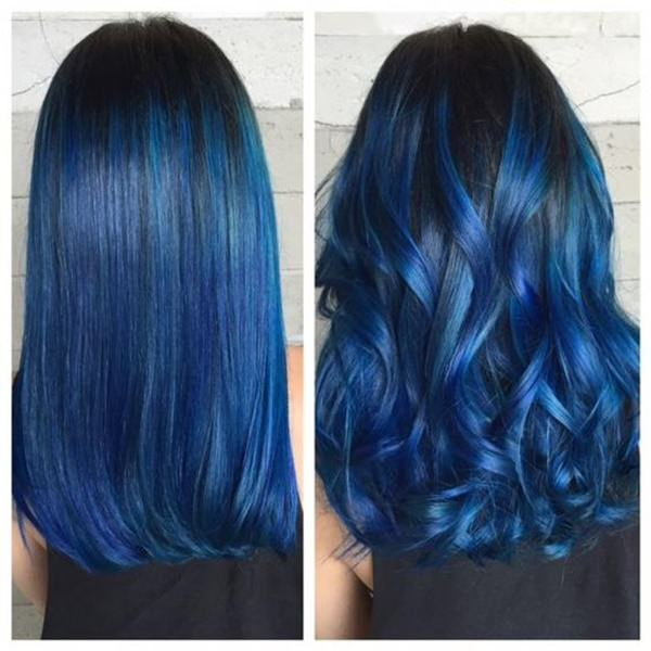 The Blue Coloring Stands Out A Lot More With Curly Style Than It Does Straight