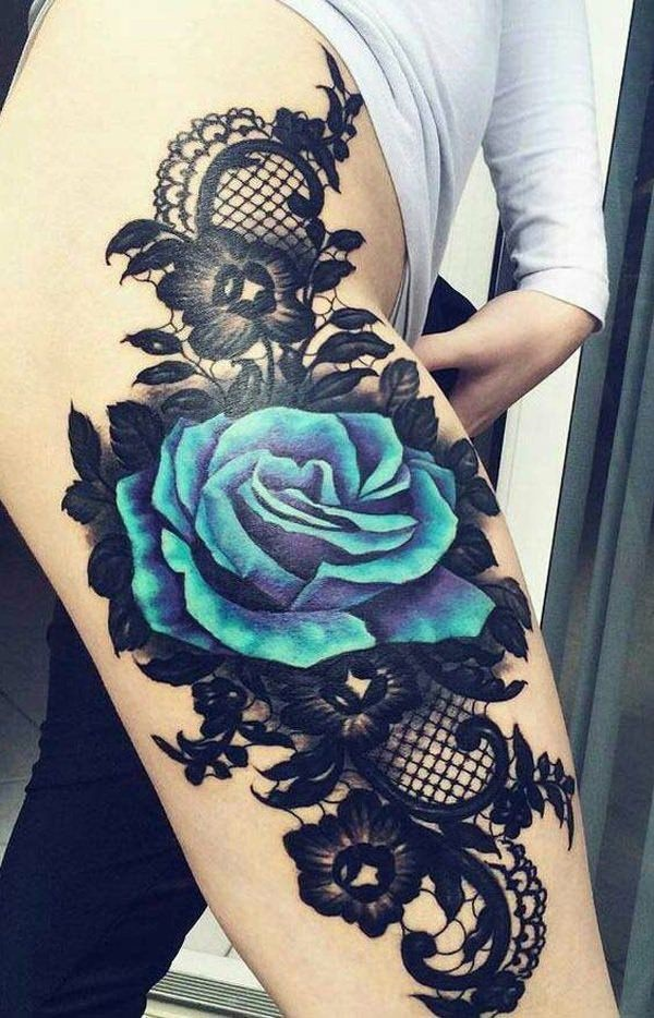 155 Various Design Ideas For A Rose Tattoo