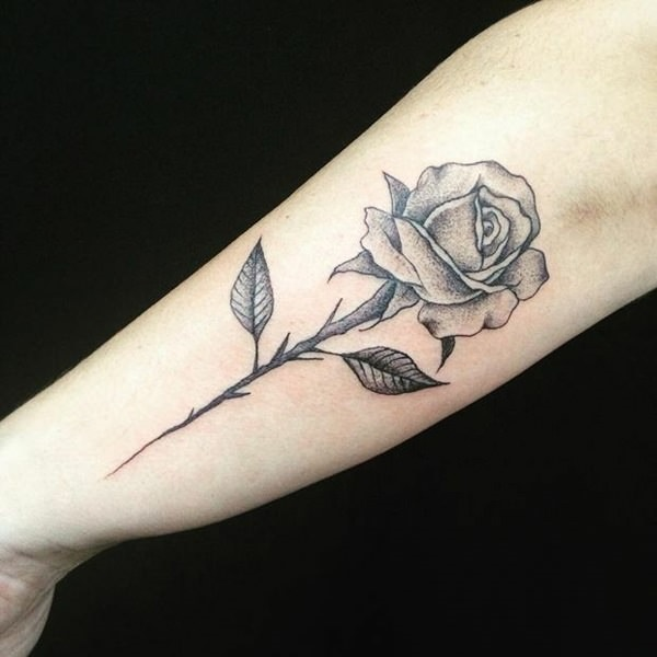 Simple Rose Tattoo Outline: 155 Various Design Ideas For A Rose Tattoo